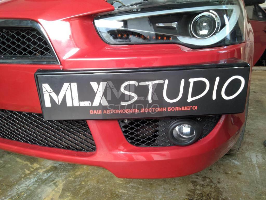 Тюнинг фары Audi Style на Mitsubishi Lancer X