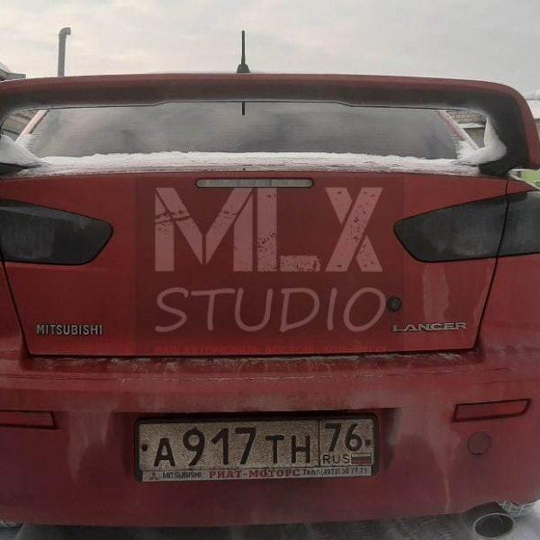 Mitsubishi Lancer X. Фонари Audi Style (тонированные)