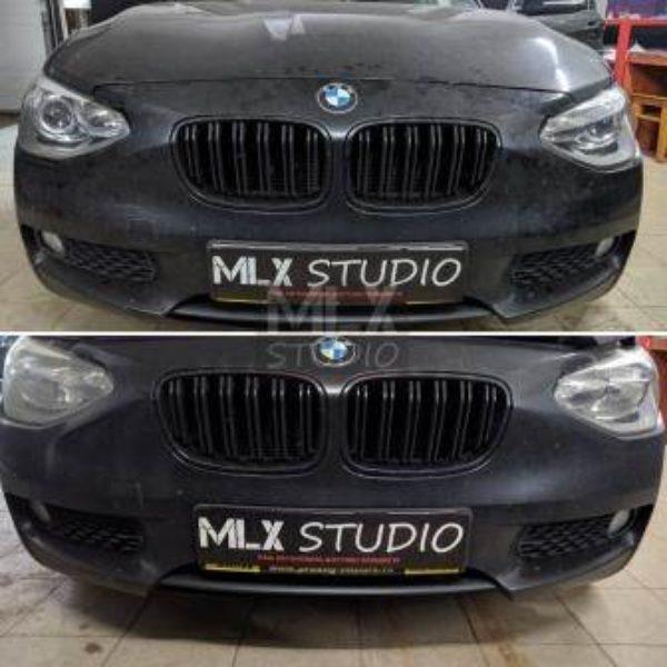 BMW 116 F20 (2013 г.в). Светодиодные линзы.