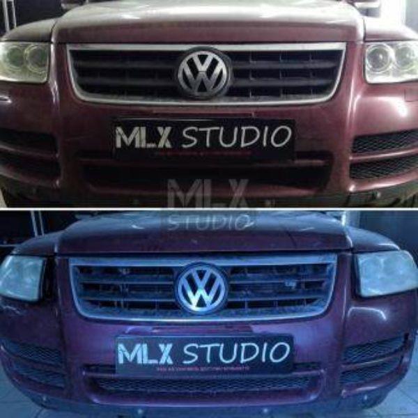 """Volkswagen Touareg (2003 г.в.)  """"Такие фары на автомобилях в аду"""" (с)"""