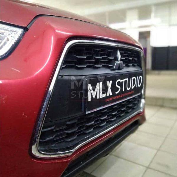 Накладки на пороги Mitsubishi ASX (2014 г.в.)