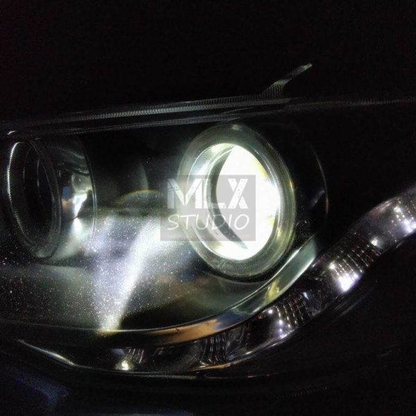 Mitsubishi Lancer X. Тюнинг тюнингованных фар :)