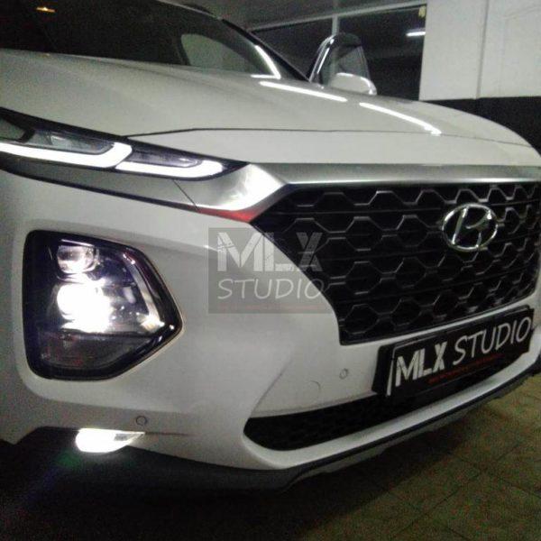 Мультимедиа 10″. Hyundai Santa Fe (2019 г.в.)