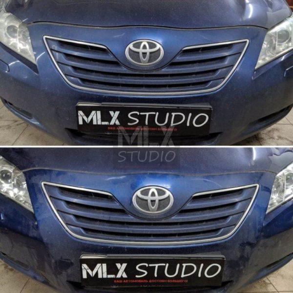 Toyota Camry V40 (2007 г.в.) замена штатных биксеноновых линз