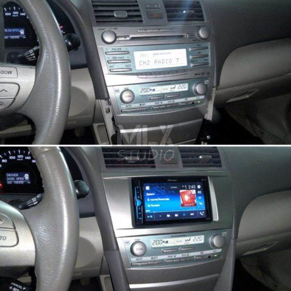 Toyota Camry V40 (2007 г.в.) замена штатной магнитолы