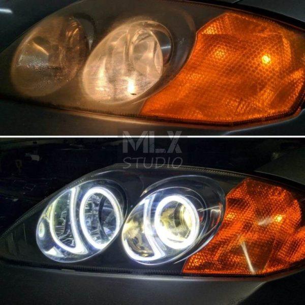Светодиодные линзы на Hyundai Tiburon
