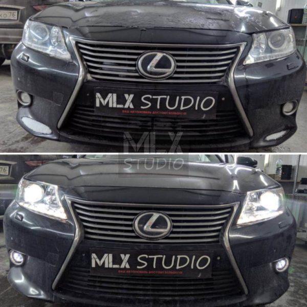 Светодиодные линзы на Lexus ES 250 (2015 г.в.)