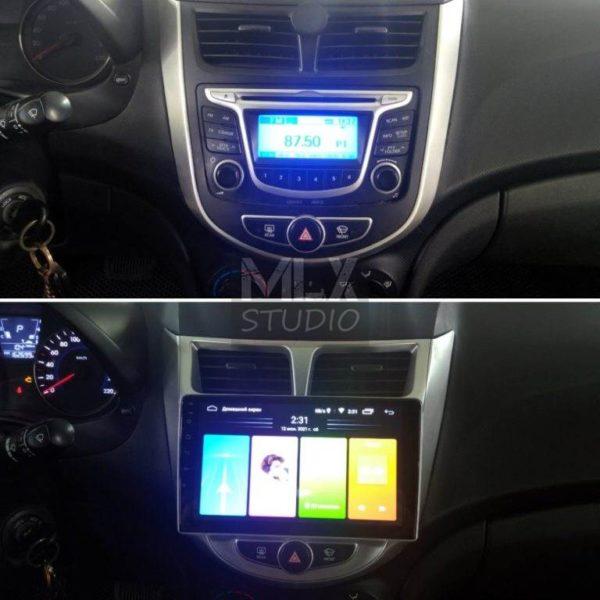 Hyundai Solaris (2013 г.в.). Магнитола на Android