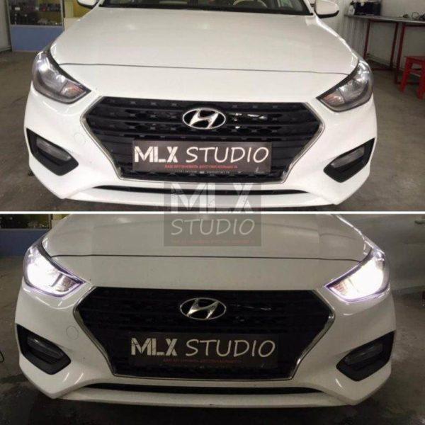 Hyundai Solaris (2019 г.в.). Линзование.