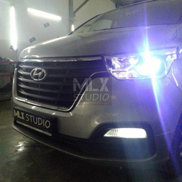 Hyundai H1 (2020 г.в.). Светодиодные линзы